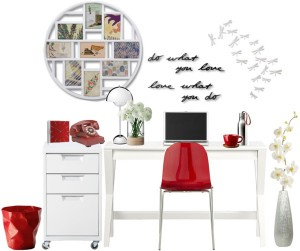 Officespace - Red and White Office Decor