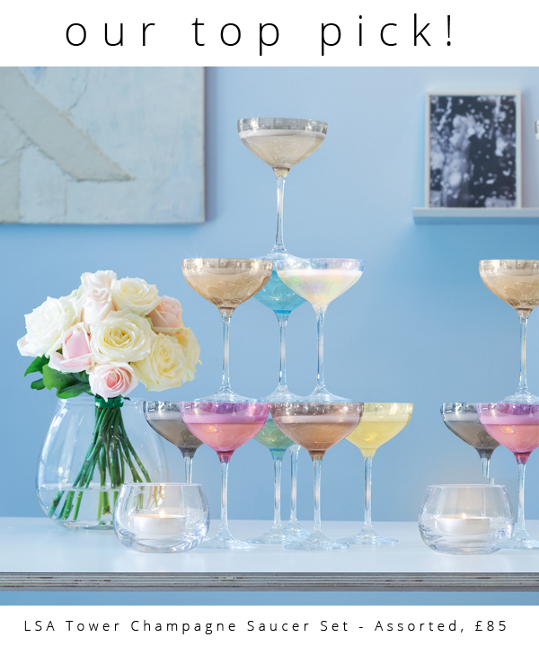 LSA Tower Champagne Saucer Set