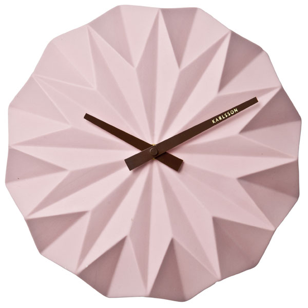 karlsson-origami-wall-clock-pink-1