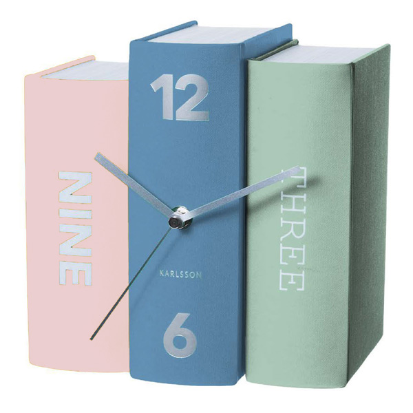 karlsson-table-clock-book-multicolour-1
