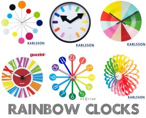 Rainbow clocks!