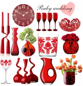 Ruby Wedding Gift Ideas