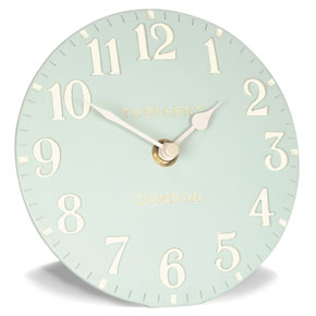 Thomas Kent Arabic Duck Egg Mantel Clock - 6 Inch