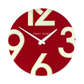 Thomas Kent Henley Red Clock - 15 Inch