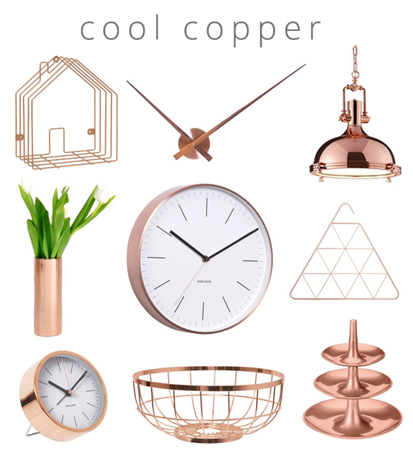 Copper product collage