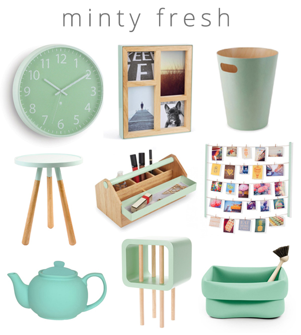 Mint product collage