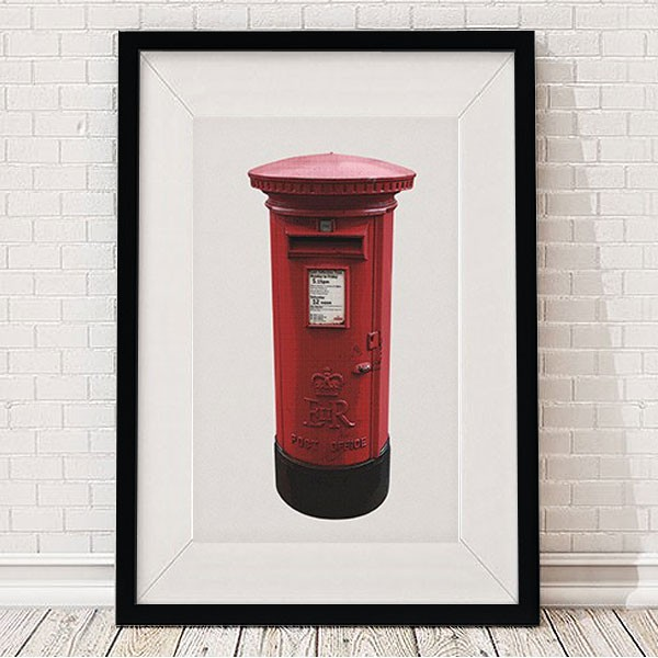 binary-british-post-box-framed-print-2