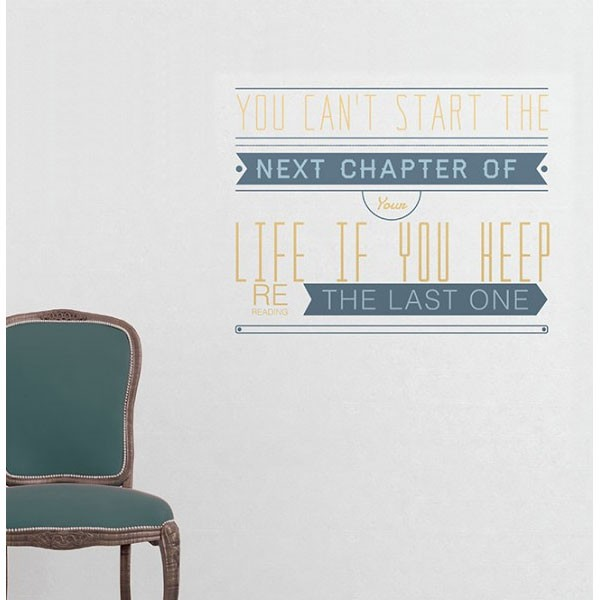 binary-you-cant-start-the-next-chapter-wall-sticker