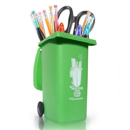 luckies-wheelie-bin-desk-tidy-green