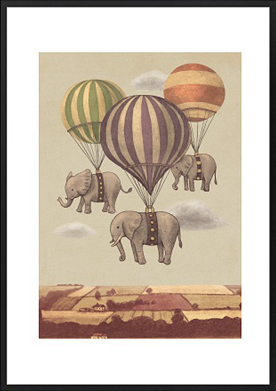 mondemosaic-flight-of-the-elephants-framed-art-print-a2