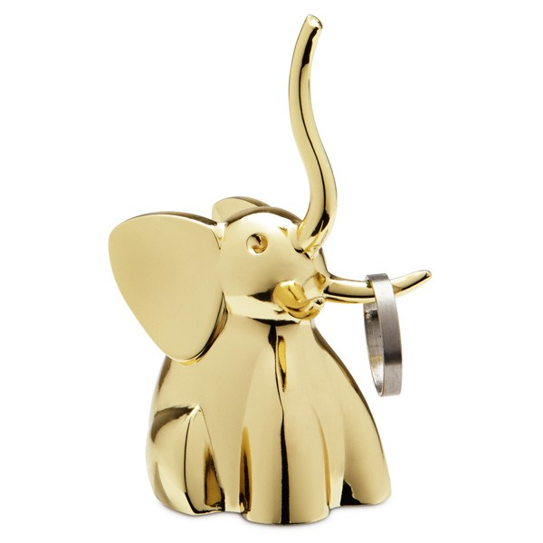 umbra-zoola-ring-holder-brass-elephant-1