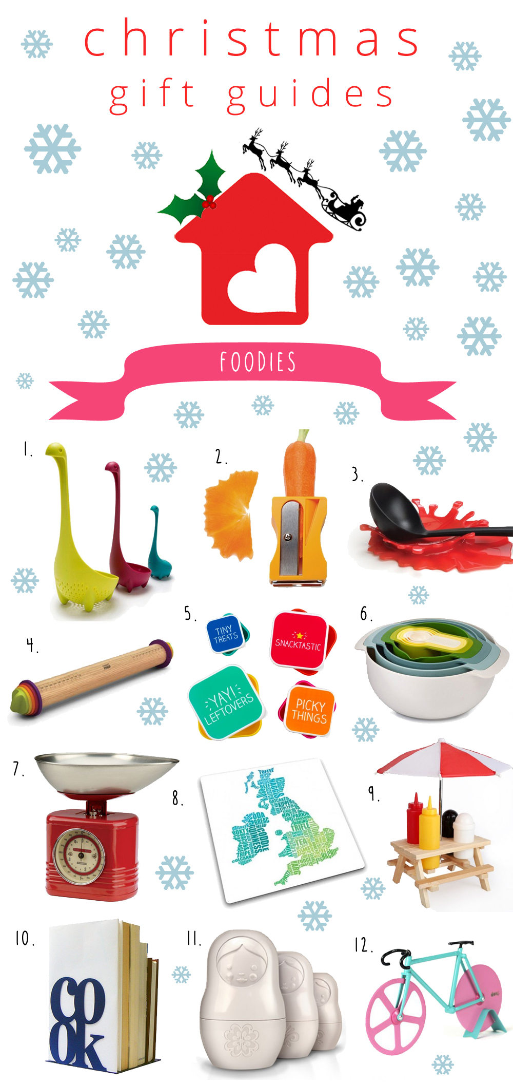 xmas guides foodies