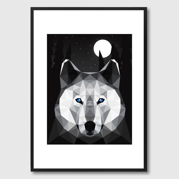 monde-mosaic-the-tundra-wolf-framed-print-1.1508431206
