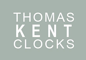 Thomas Kent Arabic Clock Taupe - large 2 inch grey clock