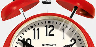 Newgate Bullitt Mantel Alarm Clock - red retro bedside clock