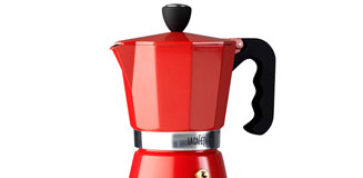 Cafe Solo Coffee Maker red - designer glass coffee percolator
