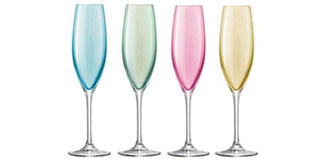 LSA Tower Champagne Saucer Set - Assorted - Champagne Tower