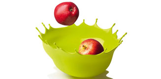 Alessi La Rosa Fruit Bowl - large red floral fruit bowl