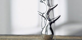 Menu Jewellery Tree - Louise Christ jewelry tree silver chrome