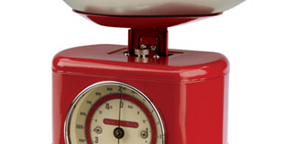 Typhoon Vintage Kitchen Scales - 1950's retro red weighing scale