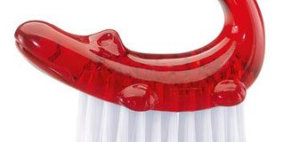 Koziol Dundee Nailbrush - red bathroom products - red nail brush