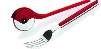 KitchenAid Pizza Cutter - Red - red designer pizza wheel