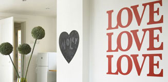 Romantic Eye Test Wall Sticker - Typographic Wall Decor