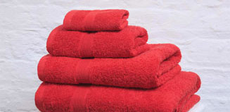 Confetti Red Hand Towel - small bath towel