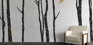 Swirly Tree Wall Sticker - funky wall sticker