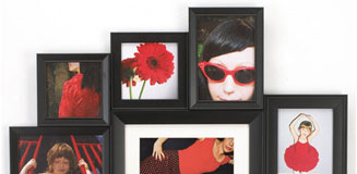 Maggiore IX Multi Photo Frame in White - large white wall frame