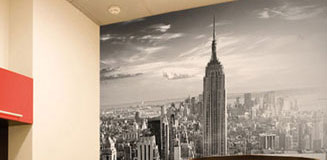 New York Bridge Wallpaper Mural - large city feature wall decor