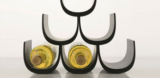 Koziol Boa Bottle Rack - Mint - funky designer wine rack