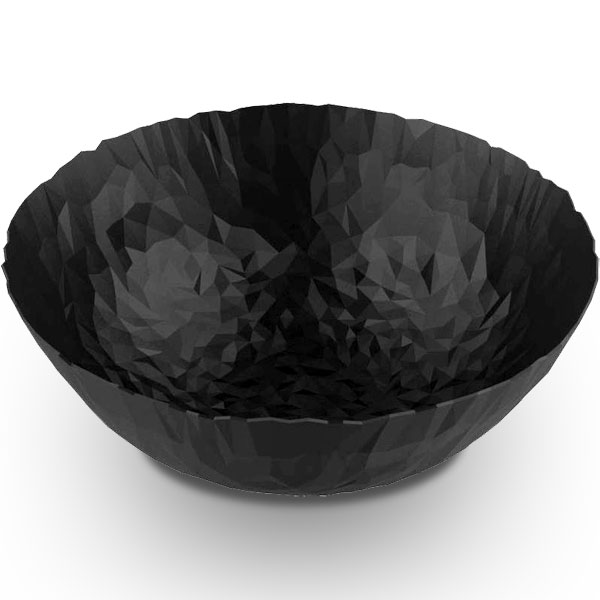Alessi Joy N.11 Round Basket  Super Black