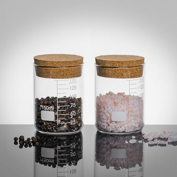 Lab Cork Lid 150ml Storage Jars - Set of Two