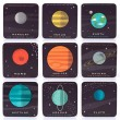 Planetaria Coasters (Set of 9) - Red Candy