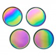 Glimmer Iridescent Coasters - Red Candy