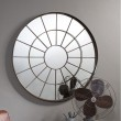 Bronze Round Window Mirror (100cm) - Red Candy