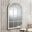White Arched Window Mirror (140 x 80cm) - Red Candy
