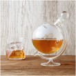 Globe Decanter with Cradle - Red Candy