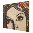 Punk Graffiti Wood Print - Red Candy