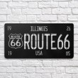 Route 66 Metal Wall Art - Red Candy