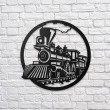 Train Metal Wall Art - Red Candy