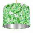 Tropical Monstera Lampshade (Silver) - Red Candy