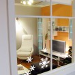 Snowflakes Wall Sticker Mini Set - Red Candy
