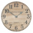 Thomas Kent Wharf Clock (15 Inch, Soaped Oak) - Red Candy
