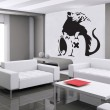 Banksy Rat A Wall Sticker - Red Candy