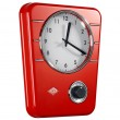Wesco Classic Line Kitchen Clock (Red) - Red Candy