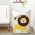 Lion Yellow Laundry Hamper - Red Candy