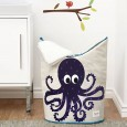 Octopus Purple Laundry Hamper - Red Candy