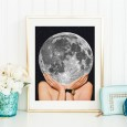 La Luna Art Print – full moon art poster